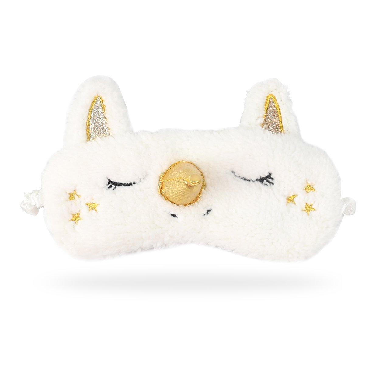 Romote unicornio 3D Dormir máscara de ojo con los ojos vendados cubierta de la felpa linda de ojos para las mujeres y niñas