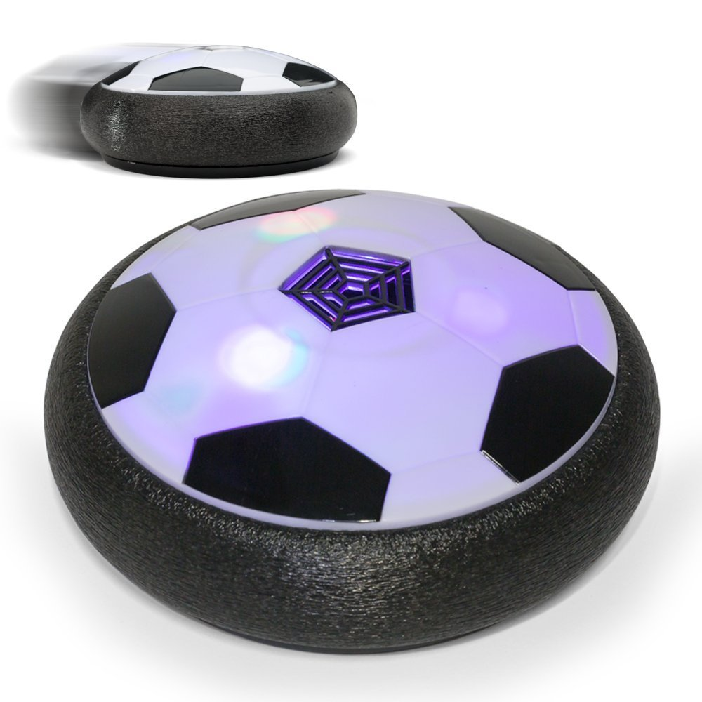 FILIND Hover Ball Air Power Soccer Disc Kids Sports Toys Pneumatic Suspended Floating Hockey Football with Foam Bumpers LED Lights and Music for Indoor or Outdoor Boys Girls Gliding Training Ball
