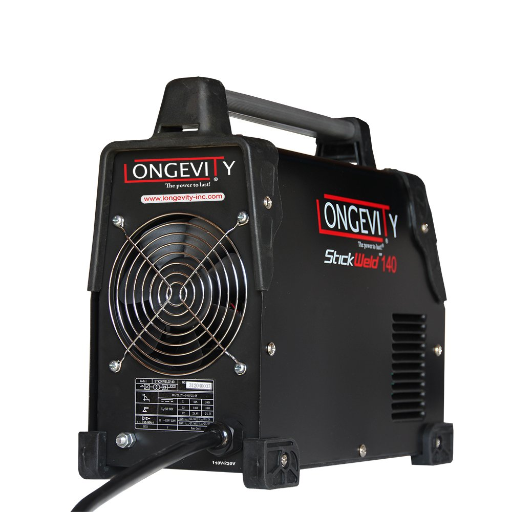 LONGEVITY 721405557523 Stickweld 140 140-AMP Dual Voltage Protable Stick Welder by Longevity (Image #2)