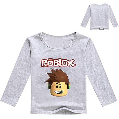 f053a0798ac1 Roblox Shirt à Manches Longues pour Enfants T-Shirt de Bande Dessinée de  Couleur Unie