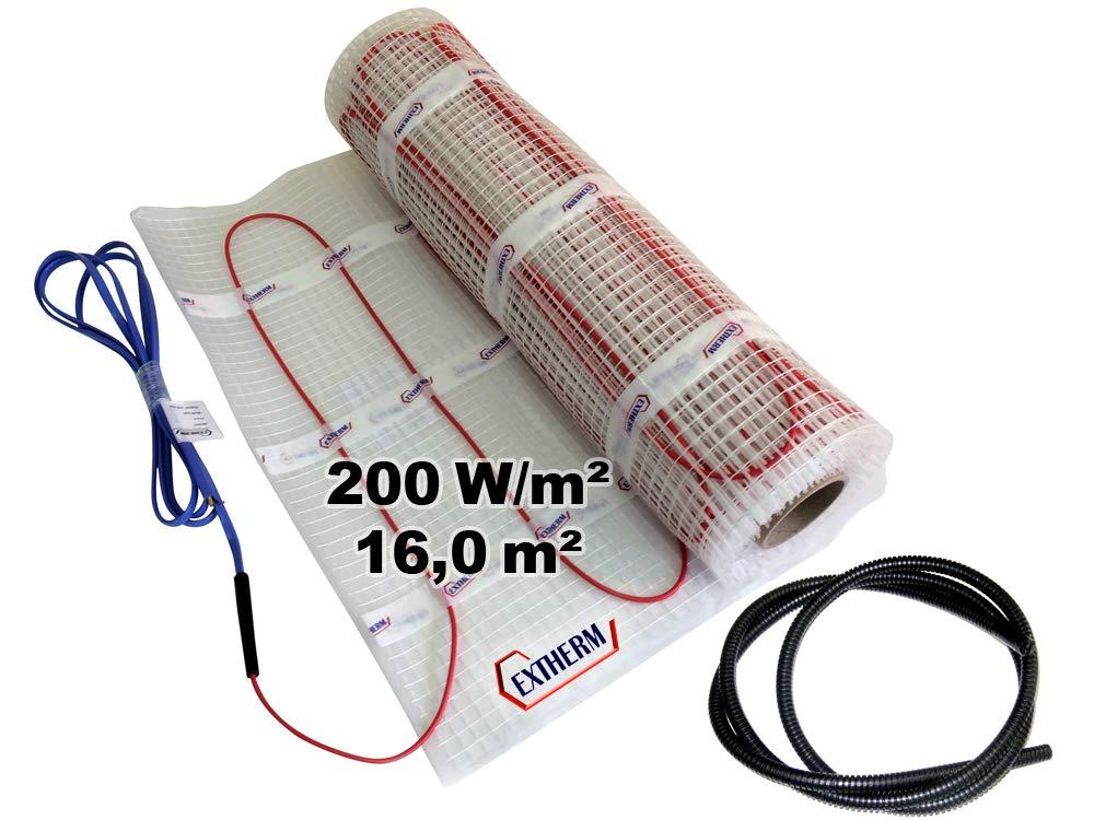 Installation TWIN C/âble EXTHERM de chauffage pour le chauffage /électrique par le sol-200w 6m/² Solutions d/énergie renouvelable Chaleur confortable partout dans votre lieu