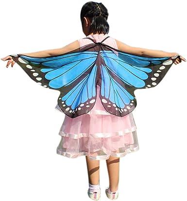 YanHoo Chal de Alas Mariposa Duendecillo para Mujer Capa Muchacha ...