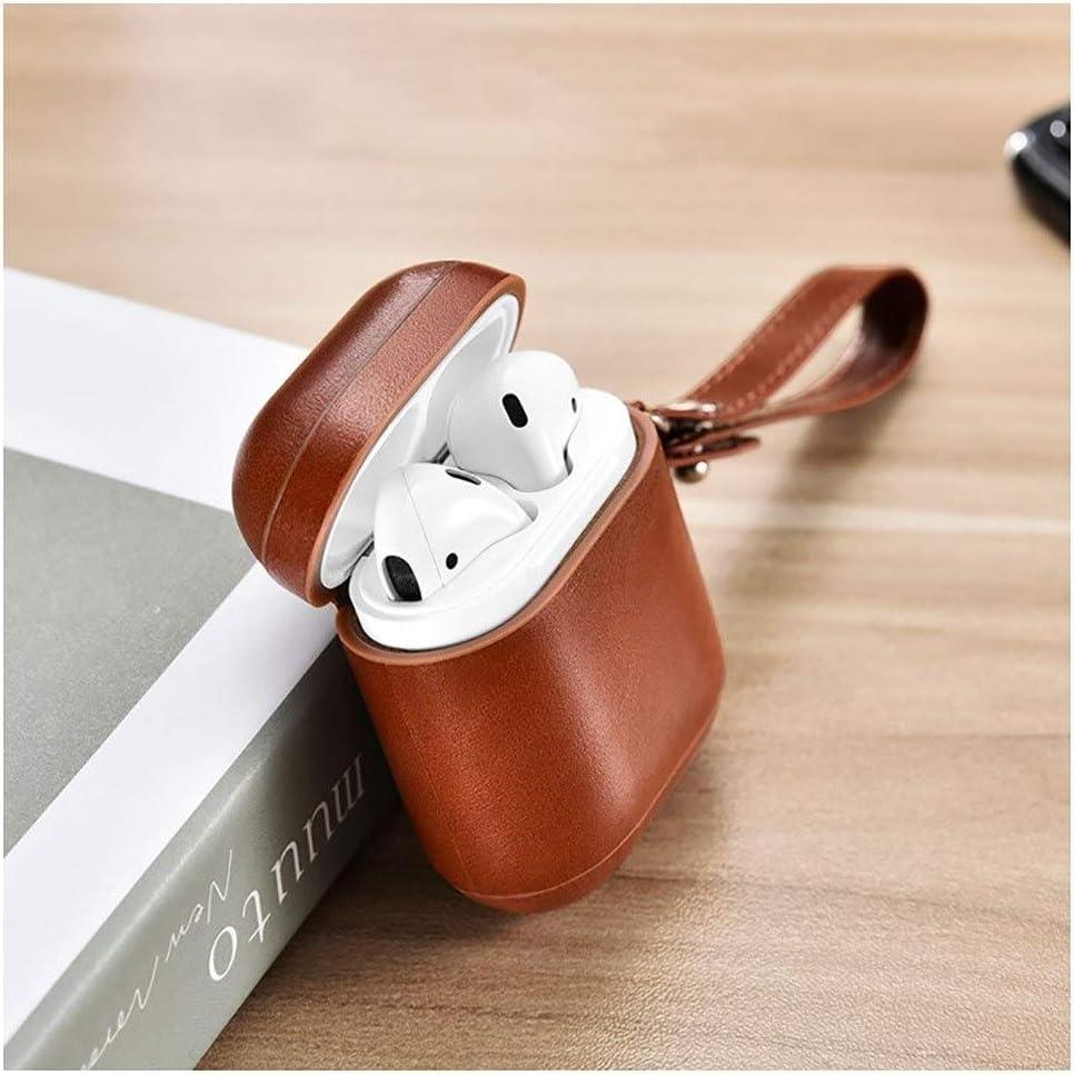Leather Color : Brown1 Bluetooth Wireless Headset Anti-Lost Lanyard Storage Accessories Shell QIANZICAI Headphone Box