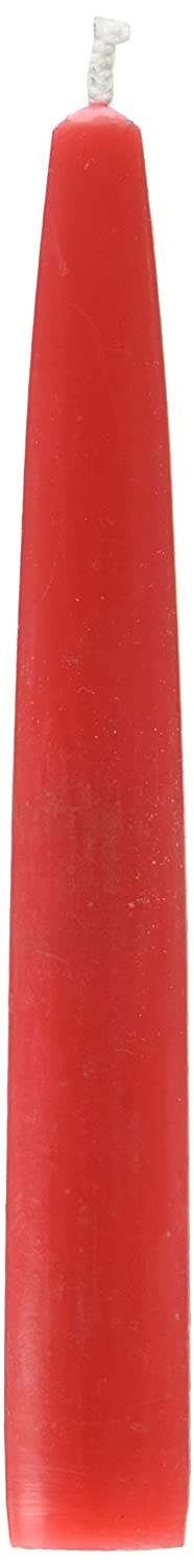 Zest Candle 12-Piece Taper Candles, 6-Inch, Ruby Red CEZ-007