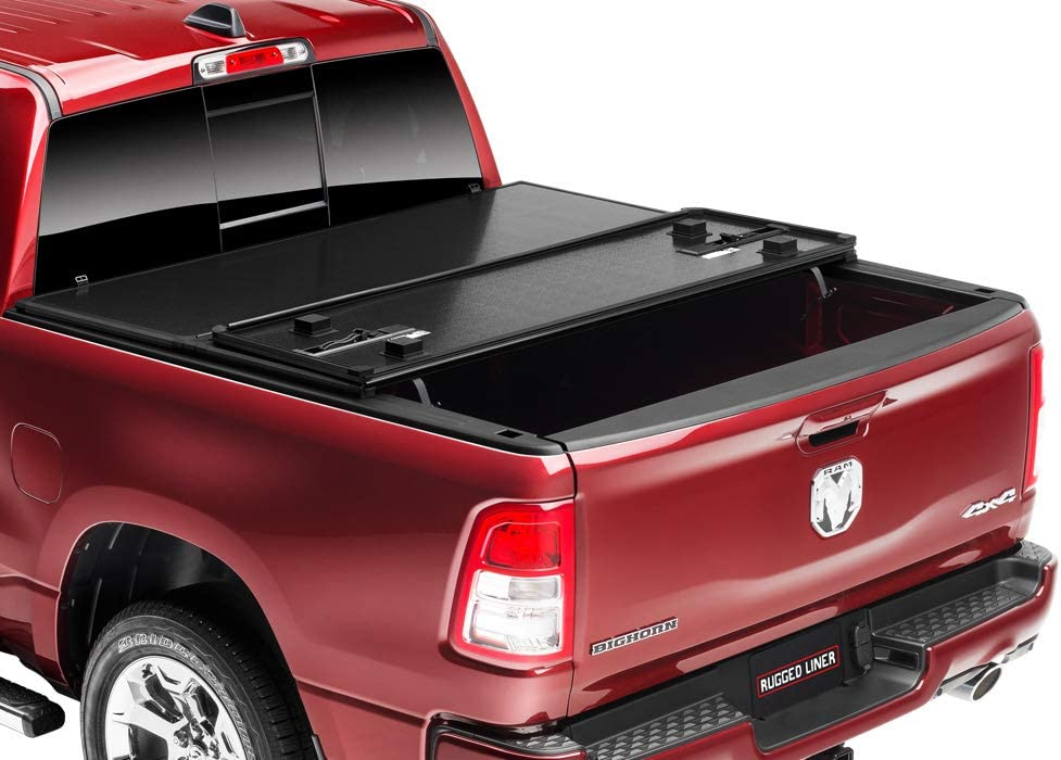Rugged Liner EH-F809 Hard Tonneau Cover for Ford F-150 Pickup 8 Foot Bed