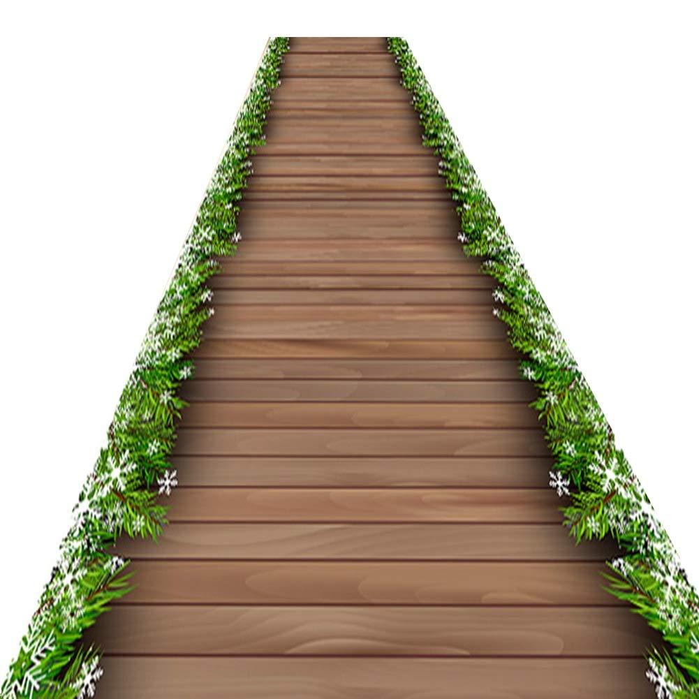 QiangDa Läufer Flur Teppich Holzmaserung Gang Nicht Skid Wasseraufnahme, 3 Stile, Mehrere Größen, Länge Anpassbar (Farbe   B, größe   1 x 3m)