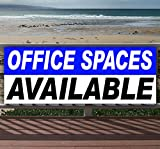 OFFICE SPACES AVAILABLE 13 oz heavy duty vinyl banner sign with metal grommets, new, store, advertising, flag, (many sizes available)