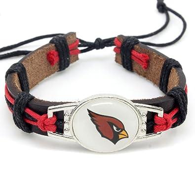 4b9863175c19b Hezhong NFL Sports football Bracelet All Teams Handmade (Arizona Cardinals)