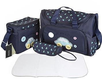Changing Bags Baby Mum Pram Stroller Polka Dot  Changing Diaper Shoulder Bag Bottle Holder