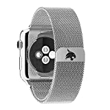BAND ONLY - Texas State University Bobcats Stainless Steel Milanese Loop Band fits on Apple Watch (42mm)