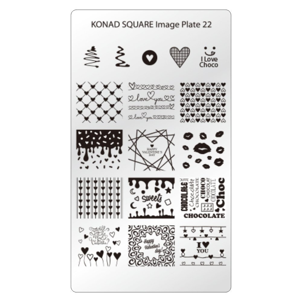 KONAD Plaque Rectangulaire 28