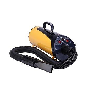 Secador de perros 4000w Mascota suministros doble motor súper alto poder mascota agua soplador cabello secadora Ruedas (Color : Amarillo): Amazon.es: ...