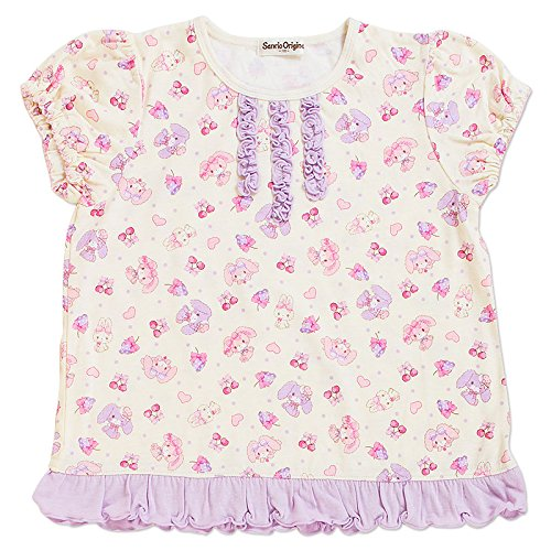 Furiously Ribbon short sleeve pyjamas (Berry) 110 cm by Sanrio