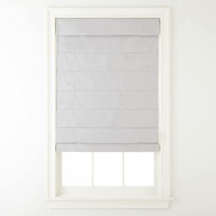Amazoncom Cordless Fabric Roman Shade Light Gray 31x64 Home Kitchen