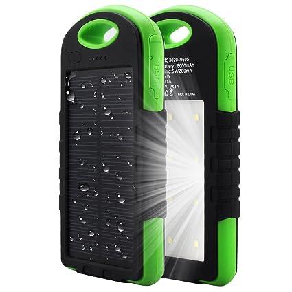"""Képtalálat a következőre: """"8000mAh Solar Chargers External Battery Pack Solar Power Bank Portable"""""""