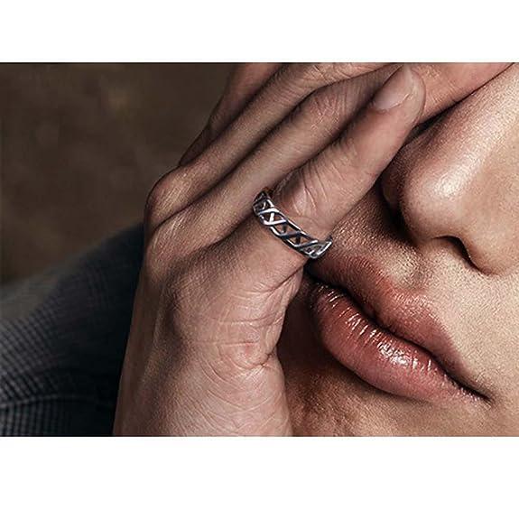 709daaabe9bc hfj   Yie   H Anillo de plata 925 para hombre Anillo de plata 3d con dedo  plateado tailandés  Amazon.es  Joyería