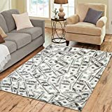 Cheap InterestPrint Home Decoration Creative Money Area Rug 7′ x 5′, Dollars Carpet Rugs for Home Living Dining Room