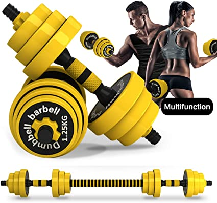 Amazon.com : DDFE Adjustable Dumbbell Barbell Lifting Set 40.4lb New Dumbbell Barbell Set for Men, Women, Beginners, Home with Four 4lb. Four 2.8lb.Four 3.3lb.Weights, 2 Dumbbell Bars, 1 Barbell Connecting Rod :