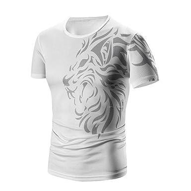 4aea544c792 EOWEO Men s Short T-shirt Men Summer Fashion Printing Men s Short-sleeved T-