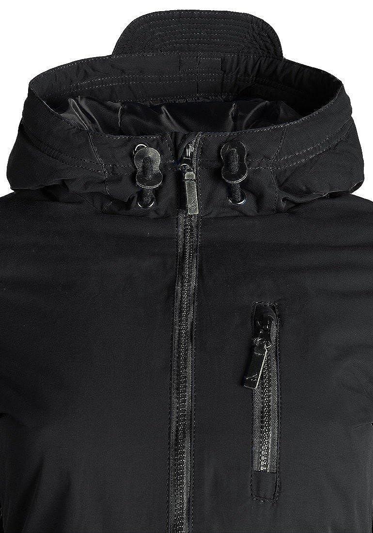 Blend SHE Colette Damen Übergangsparka Parka Übergangsjacke Lange Jacke mit Kapuze
