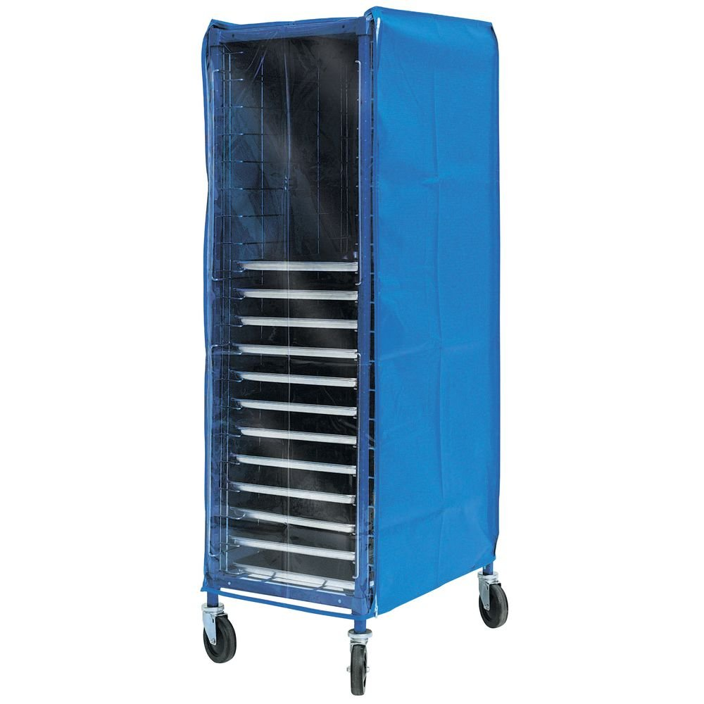 Coverall Worcester Pan Rack Cover Blue Vinyl - 28''L x 23''W x 64''H