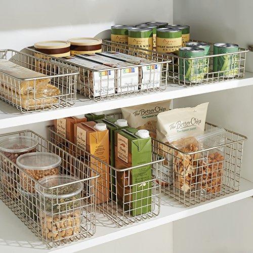 Kitchen Pantry Amazon: InterDesign Classico Storage Basket, Large Metal Wire