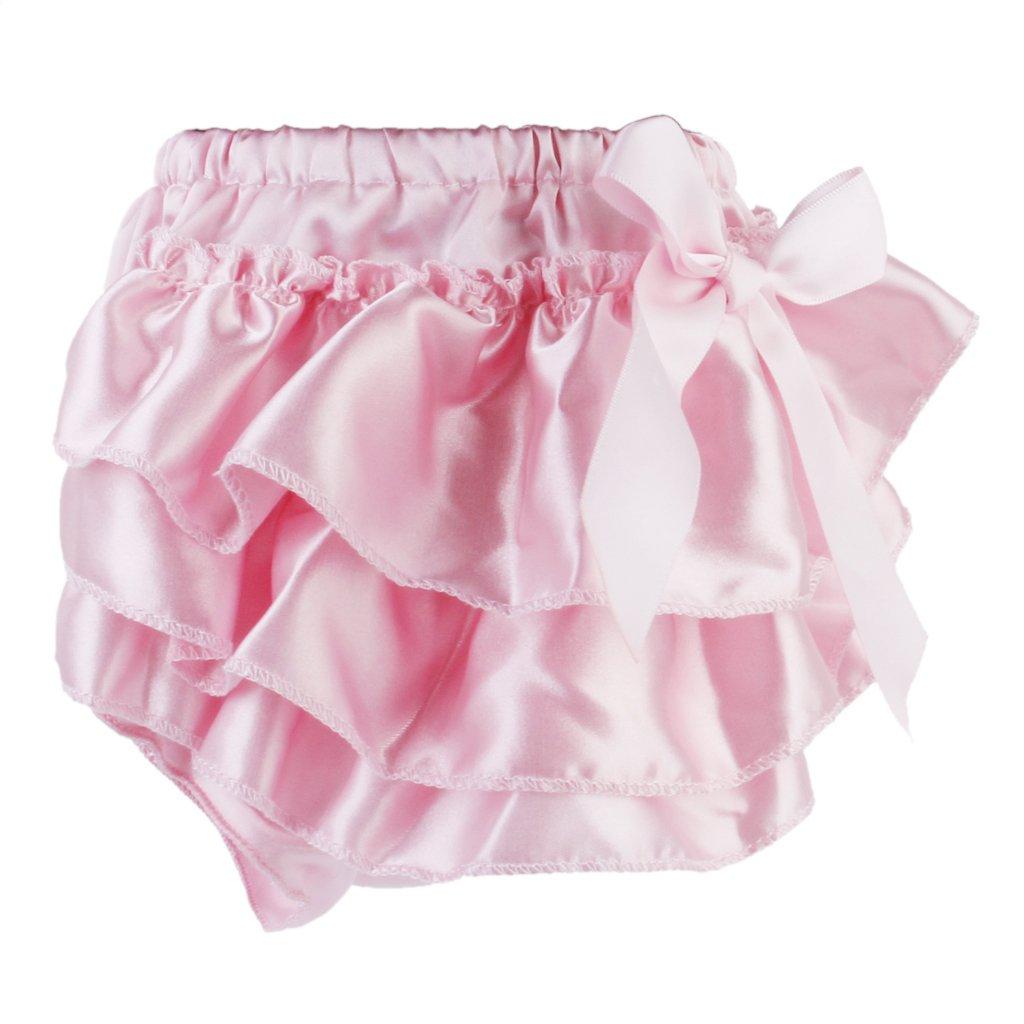 B Blesiya Pantaloncini Per Bambina Strati Di Vernice Stropicciati Neonati Bloomer Pannolini Copri Pantaloni PP