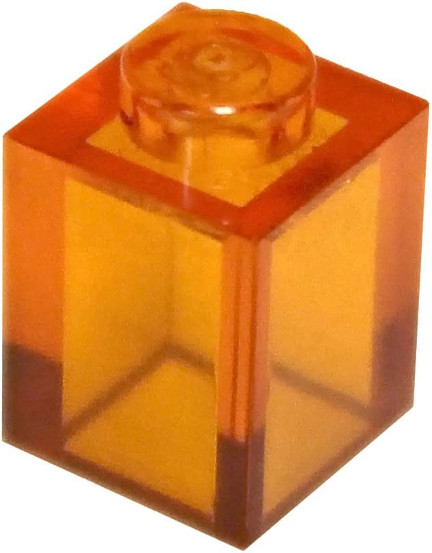 LEGO Parts and Pieces: Transparent Orange 1x1 Brick x200