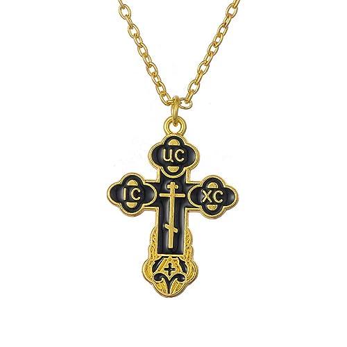 Slavic Pendant Russian Orthodox Crucifix Cross Eastern Church