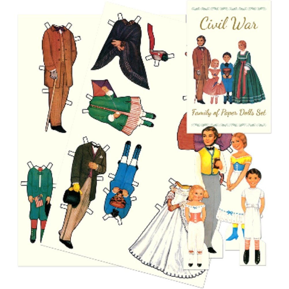 Shackman Colonial Victorian Civil War Family Paper Dolls And Clothes by Shackman