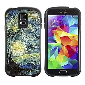 LASTONE PHONE CASE / Suave Silicona Caso Carcasa de Caucho Funda para Samsung Galaxy S5 SM-G900 / Gogh Starry Night Painting Famous Artist