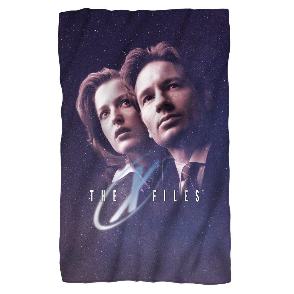X - Files among the stars 36 x 58フリース毛布 B06XDTHBWQ