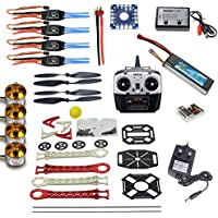 QWinOut DIY RC Quadcopter Drone ARF Unassembly Full Set Combo: 8CH RC Tarot SK450 QQ Super Flight Controller Welded Aircraft