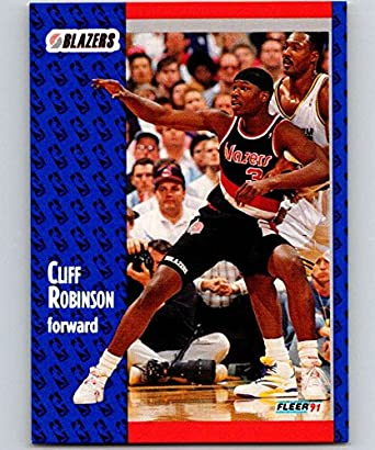 Amazon.com: 1991-92 Fleer #172 Cliff Robinson Blazers NBA Basketball: Collectibles & Fine Art