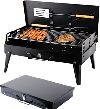 XL Holzkohlegrill Picknickgrill Faltbare BBQ Campinggrill Grill Tischgrill