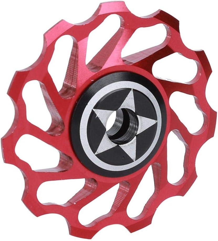 Rodillo guía de Bicicleta Negro/Rojo de instalación Simple Profesional Resistente y Duradero, Rueda guía Trasera de Bicicleta, para