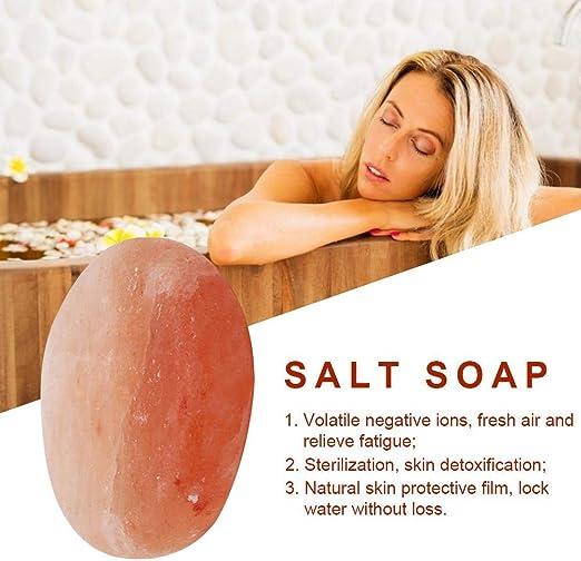 Jabón exfoliante de sal del Himalaya en forma elíptica ...