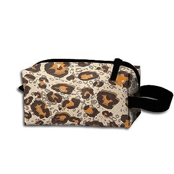 a763bd9d9d3c Leopard Print Stylish Storage Bag Portable Travel Makeup Bag Personalized  Pencil Case Cosmetic Bags