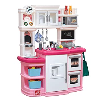 amazon com step2 great gourmet kids play kitchen pink toys games rh amazon com step 2 kitchen pink and white step 2 kitchen pink toys r us