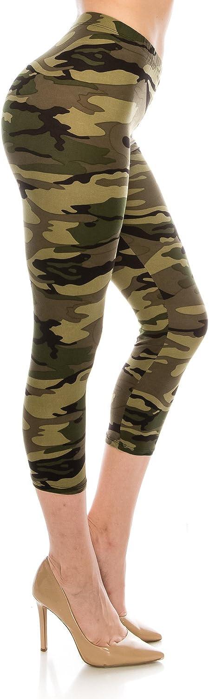Women's Printed Fashion Capri Leggings Ultra Soft Solid & Patterned