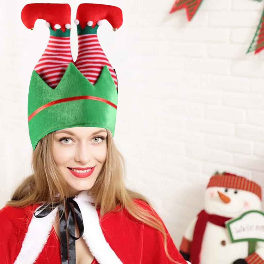 Santa Claus,28x32cm Elf Funny Christmas Hat for Adult Xmas Festival Party Dress Up Costume BaojunHT Inverted Santa Claus