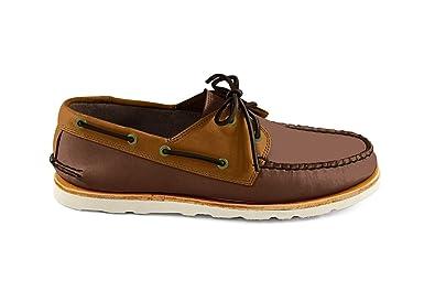 Men's Heartline Boat Shoe- Brown Brown