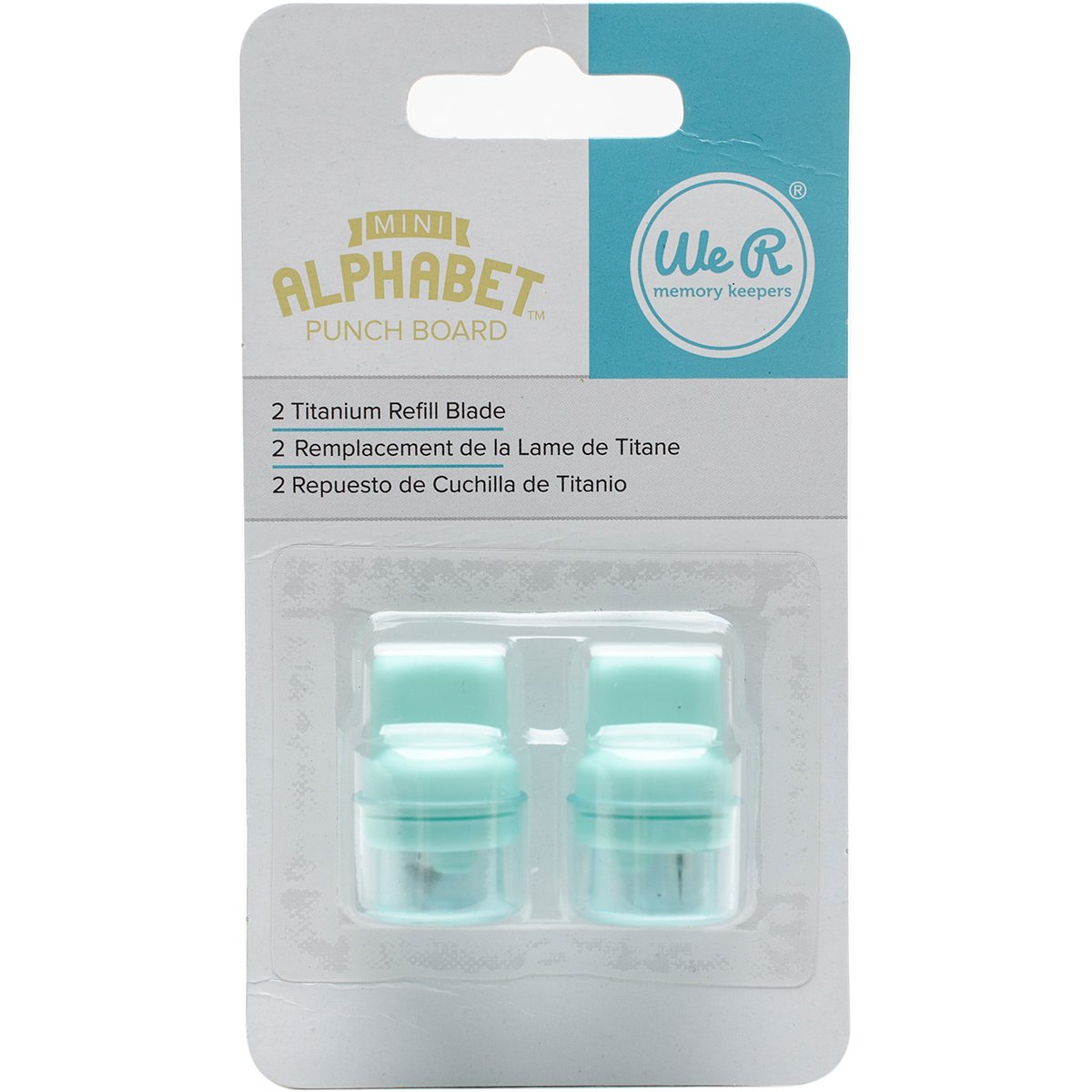 American Crafts 663005 We R Memory Keepers Tools 2Piece Mini Alphabet Punch Blade Refill