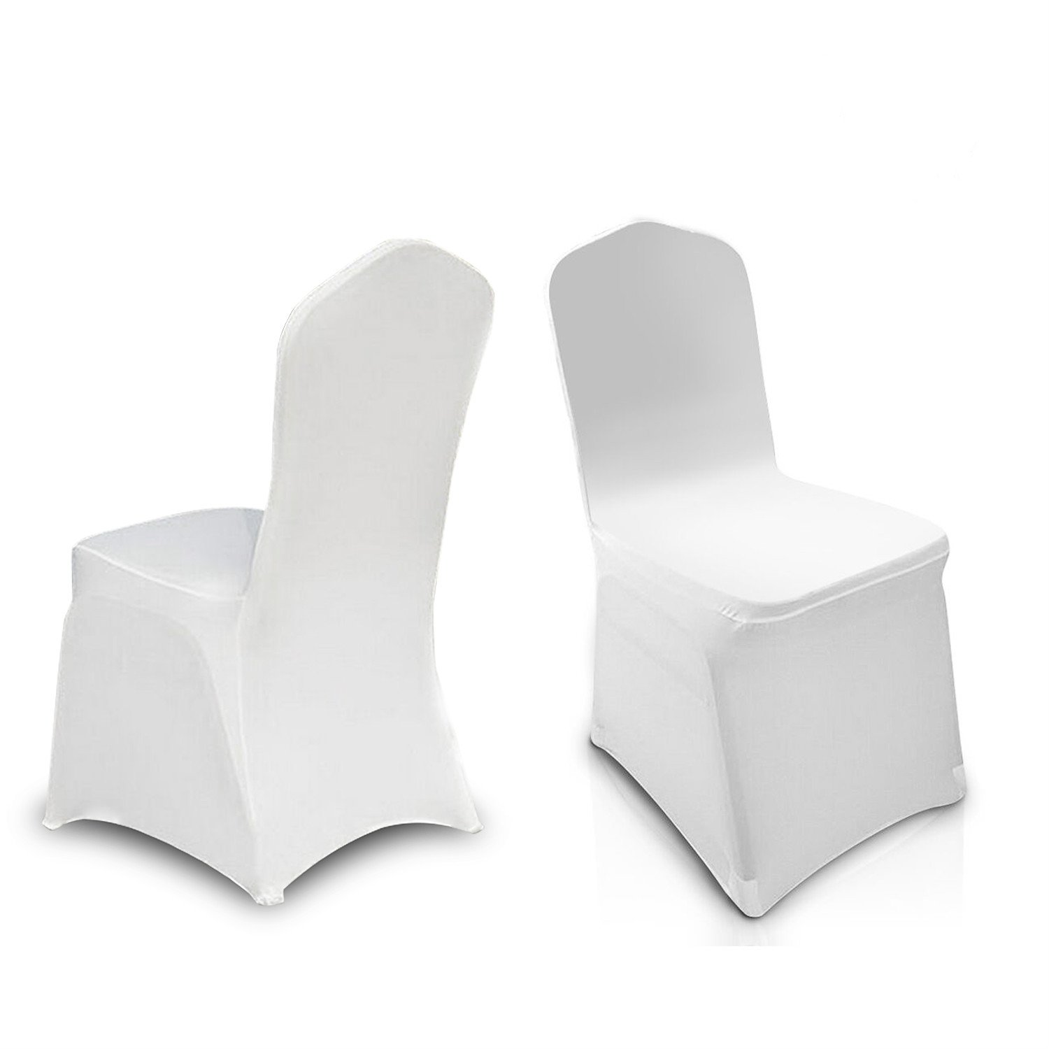 Amazon COOCHEER White 100pcs Chair Covers Spandex Lycra Metal
