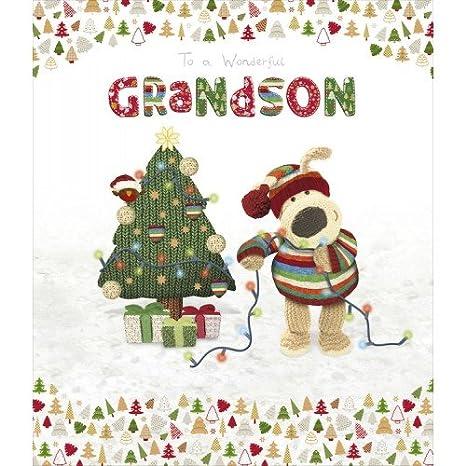 Amazon.com: Tarjeta de felicitación de Navidad para nieto ...
