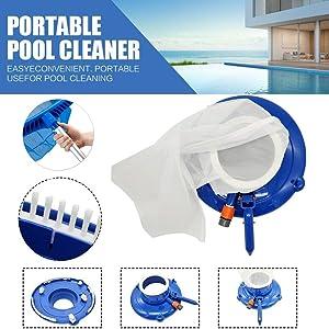 Deysen Pool Leaf Skimmer Net Vacuum for Pool, Spa, Fountain, and Hot Tub