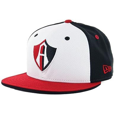 NEW ERA 59Fifty Hat Guadalajara Atlas Soccer Club Mexican League Fitted  Multi Color Cap (7 15b2ce4ad72