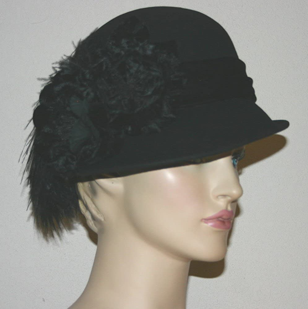 Flapper Hat Cloche Hat Wedding Hat Church East Winter Hat at Amazon Women s  Clothing store  20424f6ccdd