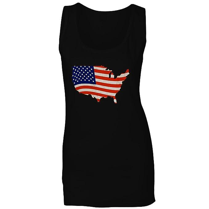 Sin Novedad Eeuu Mujer Camiseta A764ft Mangas Bandera América Divertido BqvxXgw11