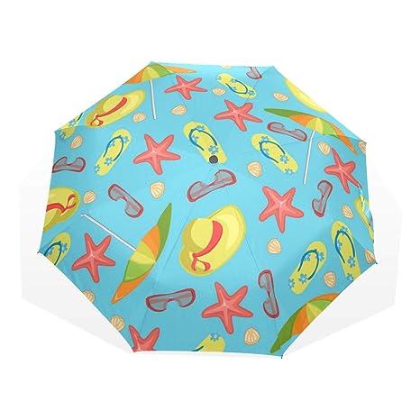 33a075719a8f Amazon.com : Anmarco Summer Slippers Umbrella Glasses Hats Starfish ...